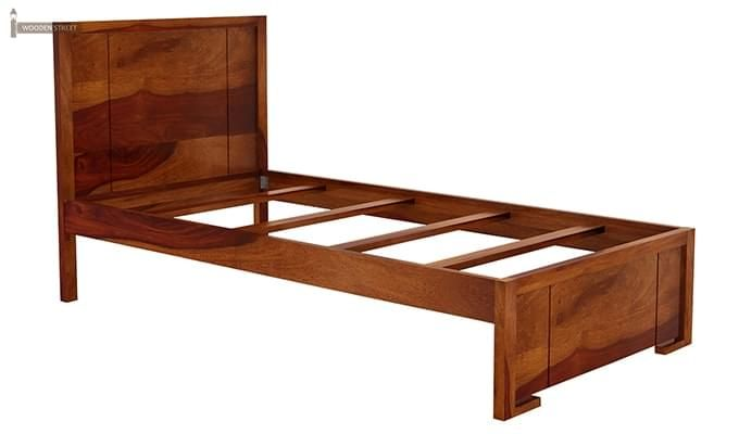Gary Single Bed With Storage (Honey Finish)-7