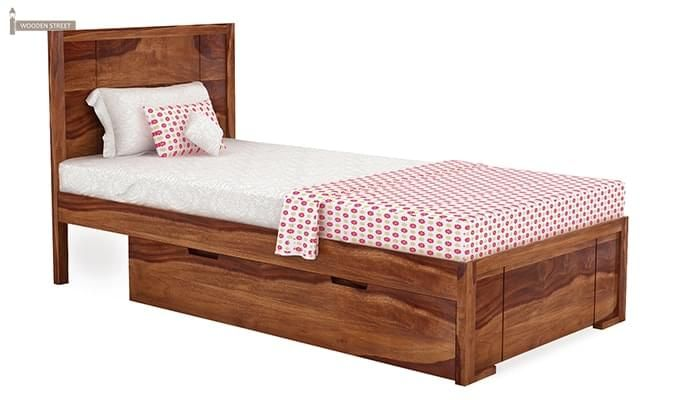 Gary Single Bed With Storage (Teak Finish)-2