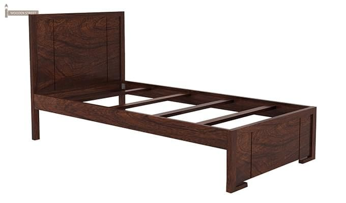 Gary Single Bed With Storage (Walnut Finish)-6