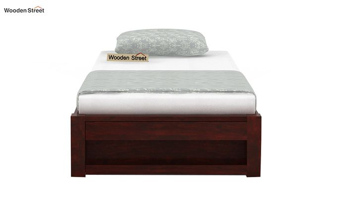 Hout Single Bed With Storage (Mahogany Finish)-4