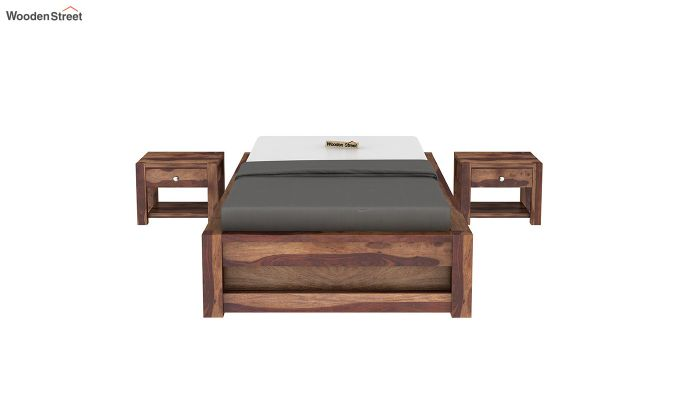 Hout Single Bed With Storage (Teak Finish)-3