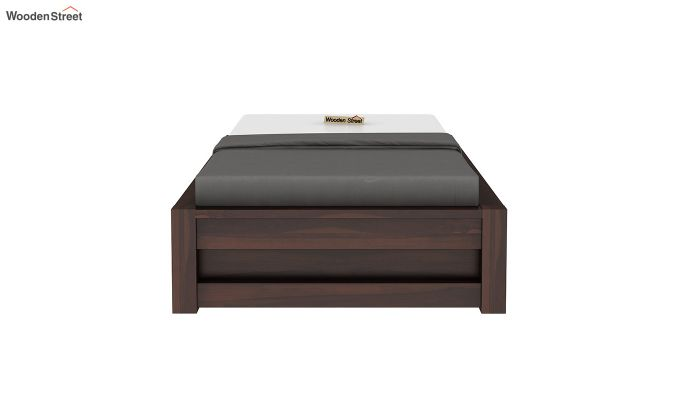 Hout Single Bed With Storage (Walnut Finish)-5