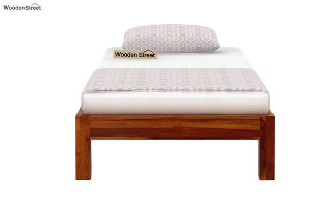 Hout Single Bed Without Storage (Honey Finish)-5