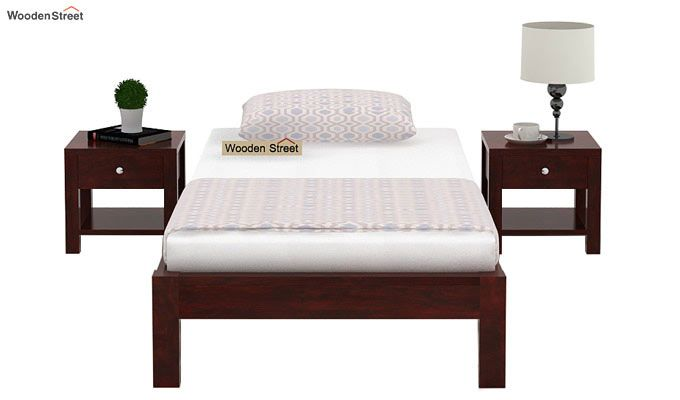 Hout Single Bed Without Storage (Mahogany Finish)-2