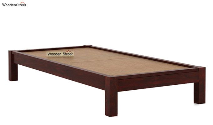 Hout Single Bed Without Storage (Mahogany Finish)-5