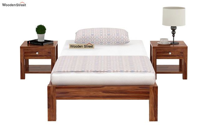 Hout Single Bed Without Storage (Teak Finish)-2