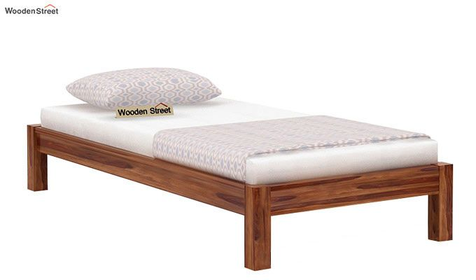 Hout Single Bed Without Storage (Teak Finish)-3