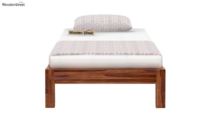 Hout Single Bed Without Storage (Teak Finish)-4