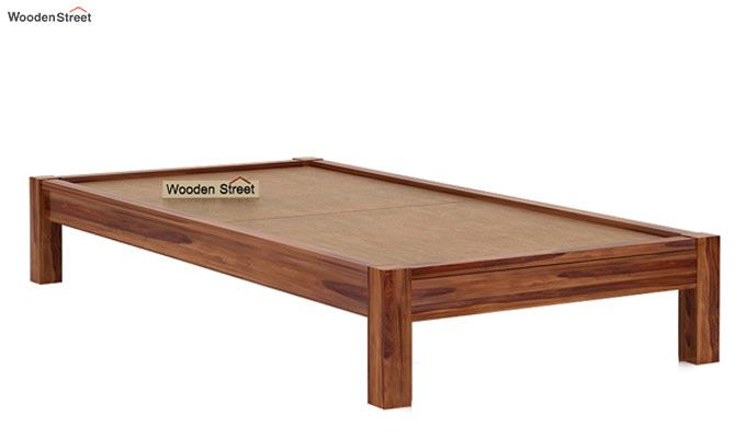 Hout Single Bed Without Storage (Teak Finish)-5
