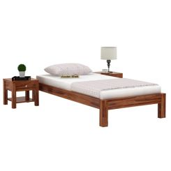Hout Single Bed Without Storage (Teak Finish)