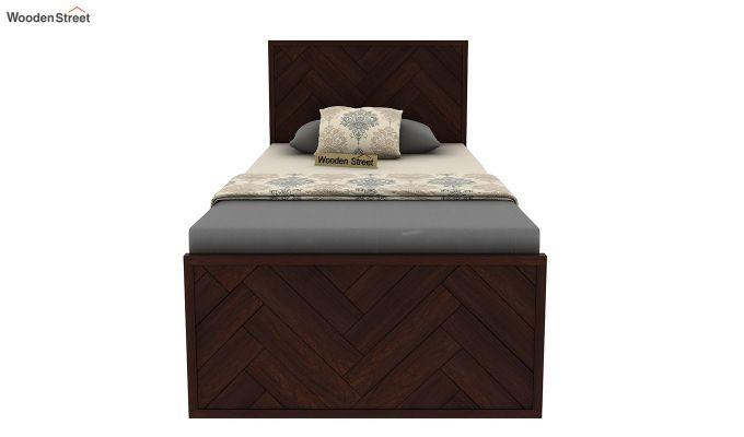 Jett Single Bed Without Storage (Walnut Finish)-5