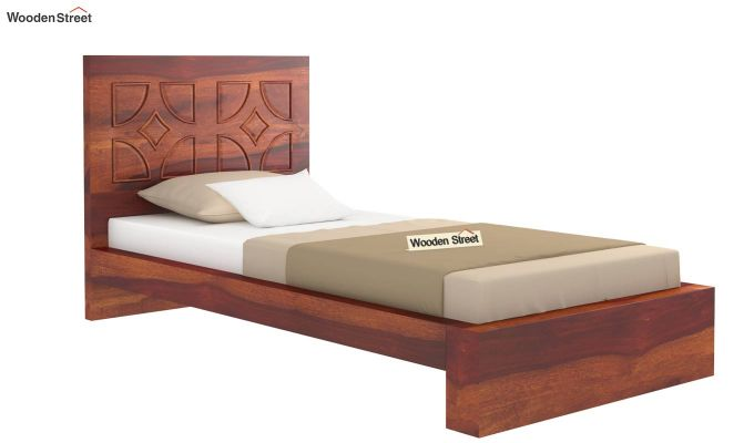 Martin Single Bed Without Storage (Honey Finish)-4