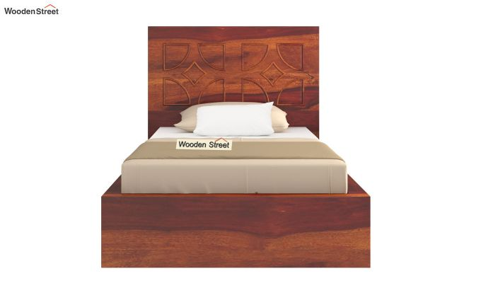 Martin Single Bed Without Storage (Honey Finish)-5