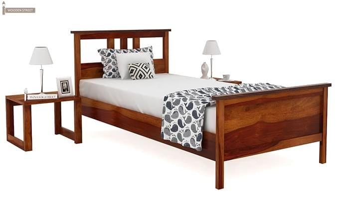 Megan Single Bed (Honey Finish)-1