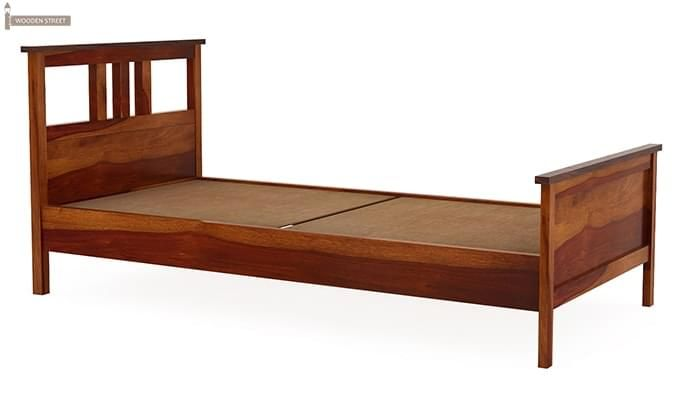 Megan Single Bed (Honey Finish)-3