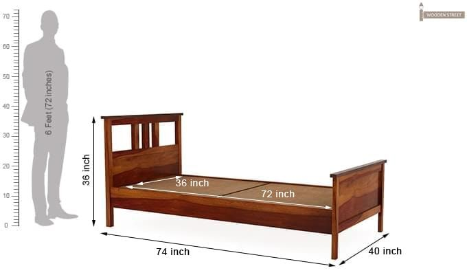 Megan Single Bed (Honey Finish)-5