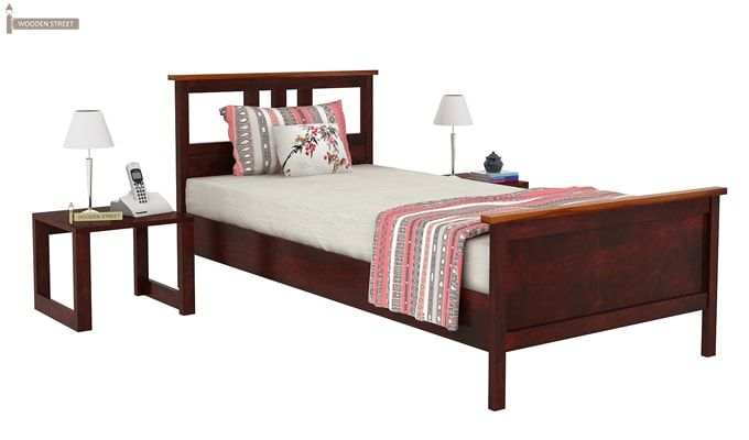 Megan Single Bed (Mahogany Finish)-2