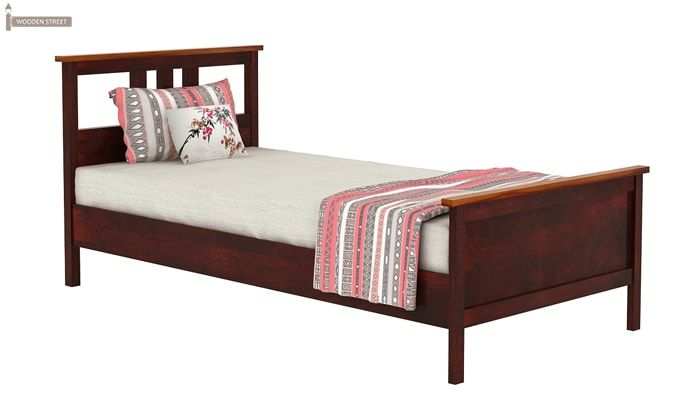 Megan Single Bed (Mahogany Finish)-5