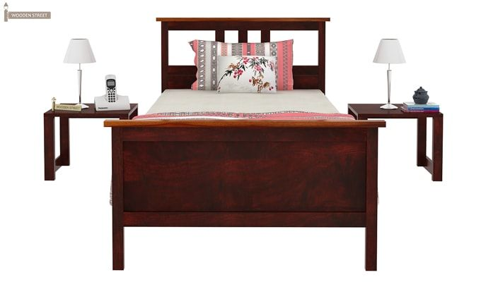Megan Single Bed (Mahogany Finish)-4