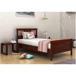 Megan Single Bed (Mahogany Finish)