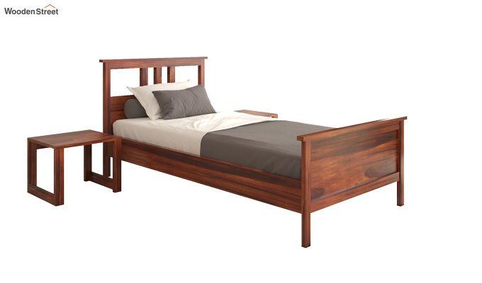 Megan Single Bed (Honey Finish)-2