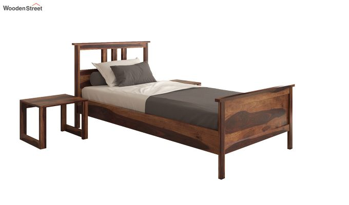 Megan Single Bed (Teak Finish)-2