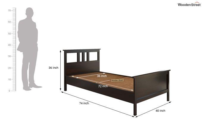 Megan Single Bed (Walnut Finish)-6