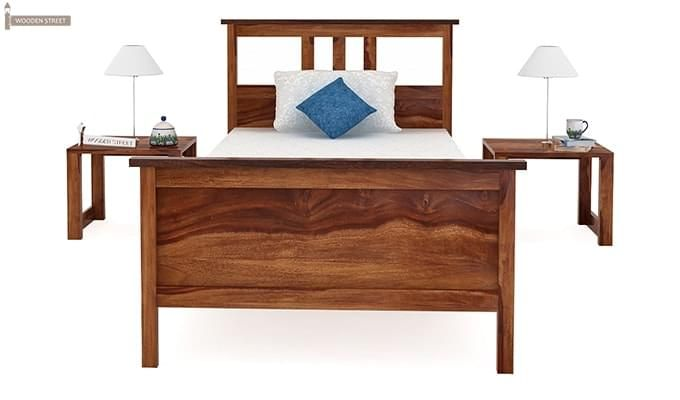 Megan Single Bed (Teak Finish)-4