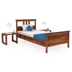 Megan Single Bed (Teak Finish)