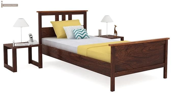 Megan Single Bed (Walnut Finish)-1