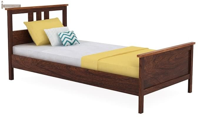 Megan Single Bed (Walnut Finish)-2