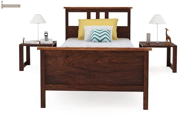 Megan Single Bed (Walnut Finish)-4
