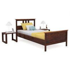 Megan Single Bed (Walnut Finish)