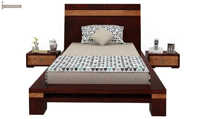 Melisandre Single Bed (Mahogany Finish)-4