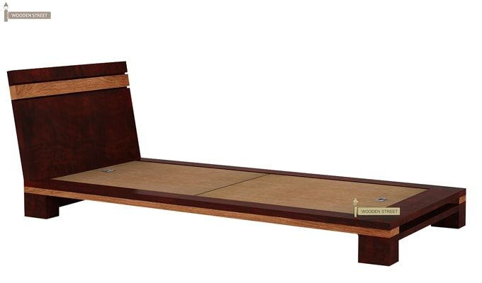 Melisandre Single Bed (Mahogany Finish)-5