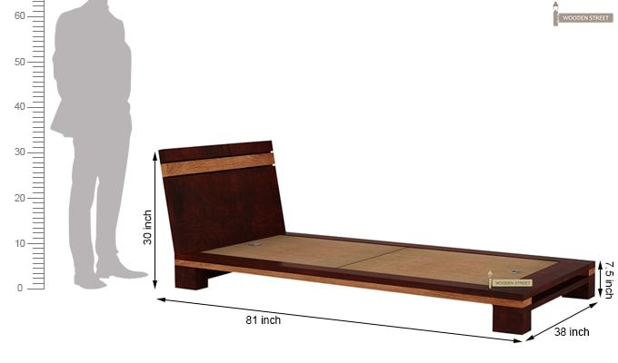 Melisandre Single Bed (Mahogany Finish)-6