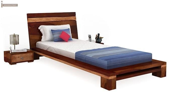 Melisandre Single Bed (Honey Finish)-1