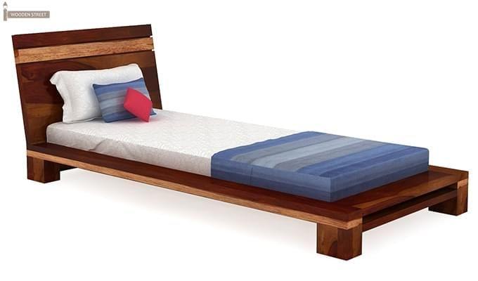 Melisandre Single Bed (Honey Finish)-2