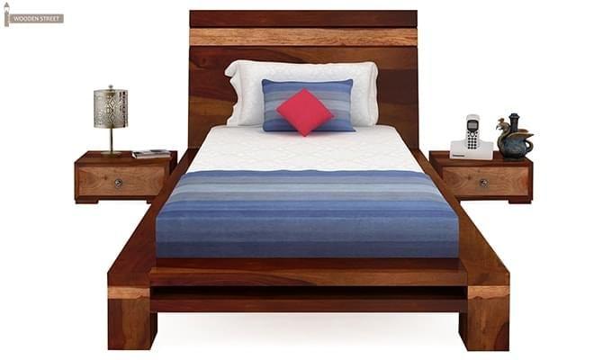 Melisandre Single Bed (Honey Finish)-3
