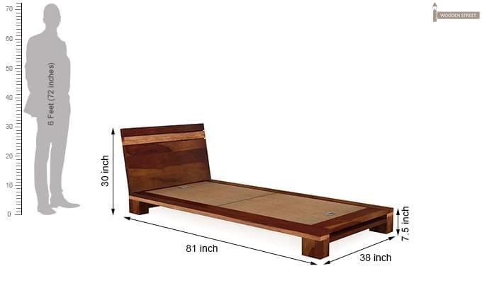 Melisandre Single Bed (Honey Finish)-5