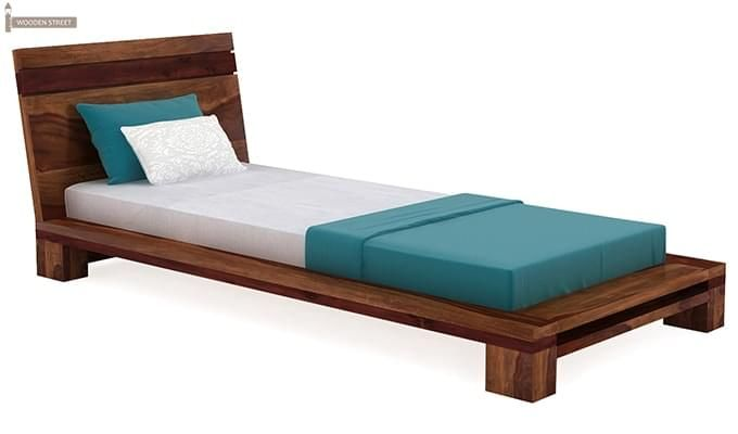 Melisandre Single Bed (Teak Finish)-3