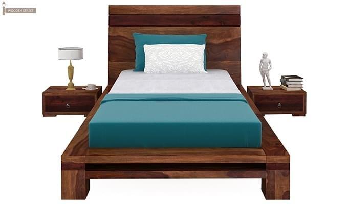 Melisandre Single Bed (Teak Finish)-2