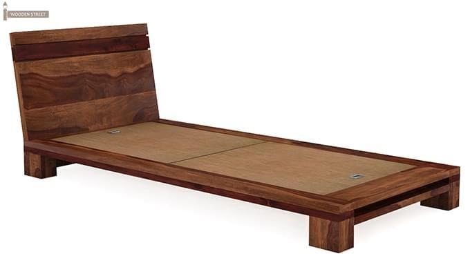 Melisandre Single Bed (Teak Finish)-4