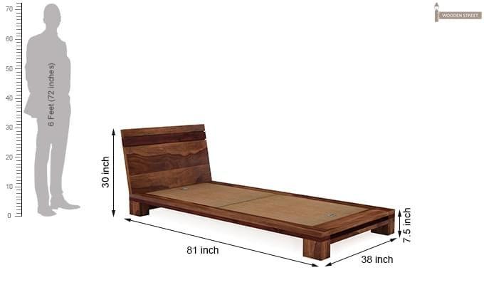 Melisandre Single Bed (Teak Finish)-5