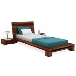 Melisandre Single Bed (Teak Finish)