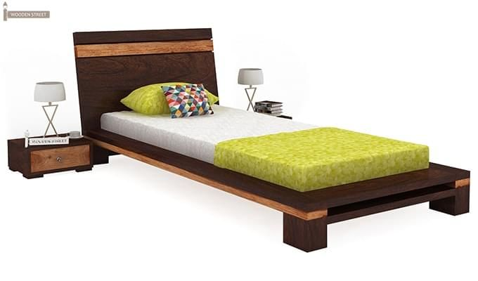 Melisandre Single Bed (Walnut Finish)-1