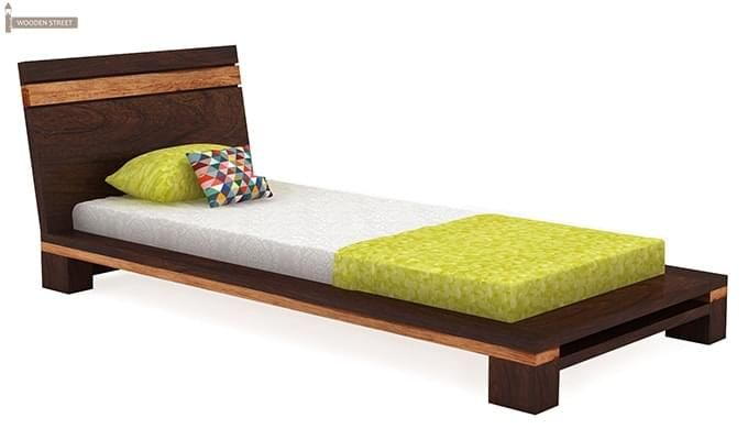 Melisandre Single Bed (Walnut Finish)-2
