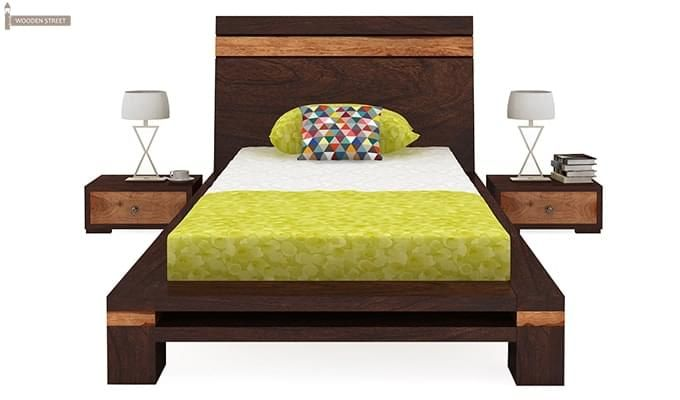 Melisandre Single Bed (Walnut Finish)-3