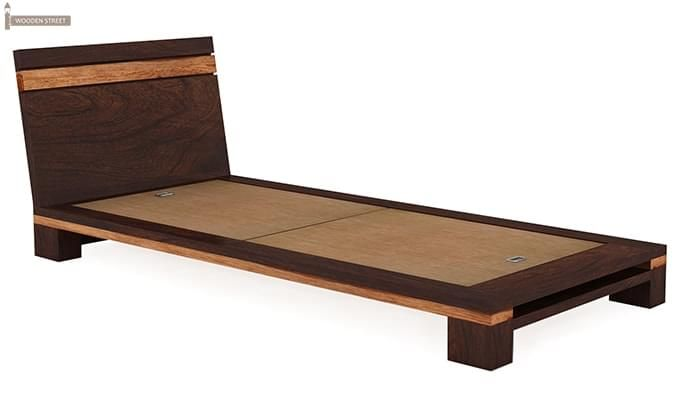 Melisandre Single Bed (Walnut Finish)-4