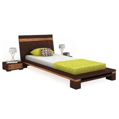 Melisandre Single Bed (Walnut Finish)